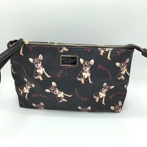 Betsey Johnson adorable chihuahua print cosmetic